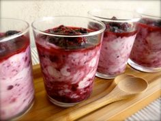 Skinny Lemon Triple Berry Fool- Quick, easy, healthy and delicious no-cook dessert with just 4 Weight Watchers PointsPlus