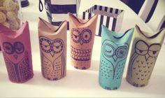 toilet paper tube owls