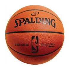 """Gift Ideas for Men ~ This is no ordinary basketball…it's a 100% leather ball. According to Dan, """"every real man needs one"""". It's the official ball of the NBA and only for indoors"""