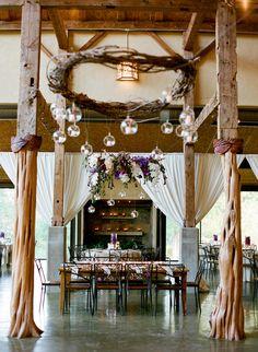 Beautiful, indoor reception space   Q Weddings   blog.theknot.com