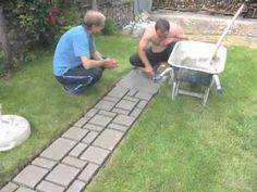How to make cobblestone-look walkway with cobblestone mold made by youself or by your friend. Music by Oferta Especial