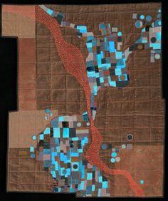 Leah Evans Textile Maps    The color!