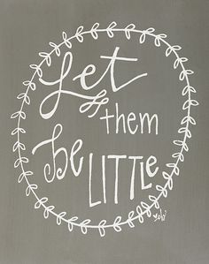 Gray 'Be Little' Box Sign