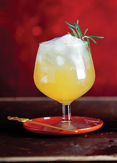 The Libertine :     Rosemary brings an herbal note to this whiskey drink made by Mariena Mercer at the Chandelier Bar in the Cosmopolitan.