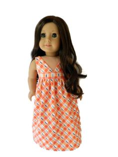 American Girl Doll Clothes Chic Summer Maxi Dress by 18Boutique
