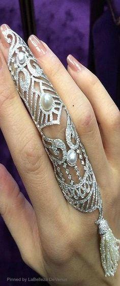 Noudar Maharaja NATURAL pearl rings | LBV ♥✤