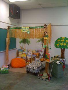 Reading Hut for my daughters kindergarten classroom