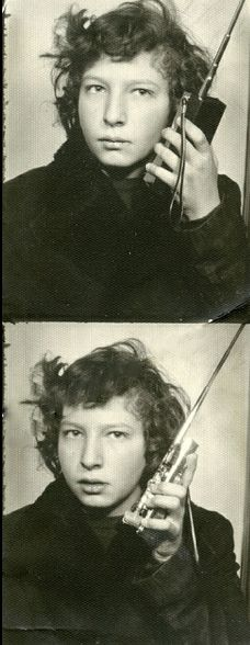 +~ Vintage Photo Booth Picture ~+ Over and Out!