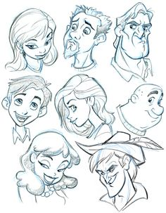 animation character design, 3d character, character sketches, cartoon characters, the face