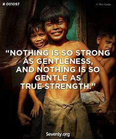 Meekness is strength...