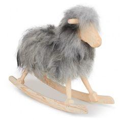 Grey Long Hair Rocking Sheep
