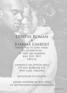 Contemporary Wedding Photo Card