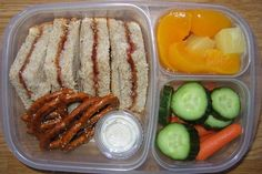 This makes me want to send lunch to school every day.  This website has SUCH GREAT LUNCH ideas for kids (and adults).