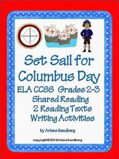 Set Sail for Columbus Day:  CCSS ELA/ Social Studies Unit