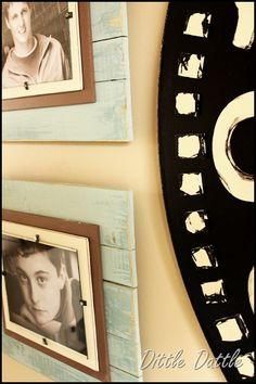 diy frames using scrap wood...love!