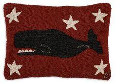 """Whale 14""""X20"""" Hook Pillow"""
