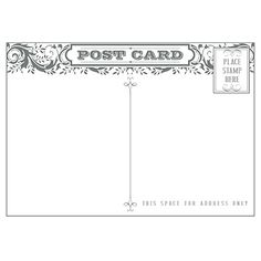 Post Card stamp.