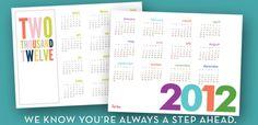 free downloadable 2012 Printable Calendars