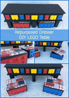 My Repurposed Life- DIY Lego table made from an old dresser  #Minwax wipe on poly  #IDidThatSweepstakes