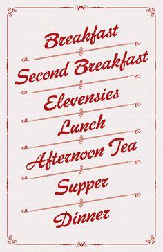 Hobbit eating schedule :)