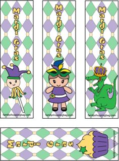 Mardi Gras Bookmarks from Family Shopping Bag