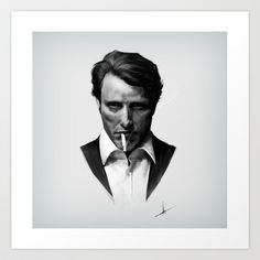 Mads Mikkelson Art Print by HYRenee - $14.00