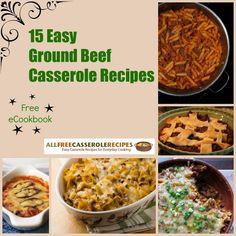 ground beef recipes, free ecookbook, beef casserol, casserole recipes