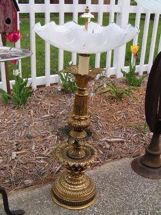 Turn lamps into birdbaths!
