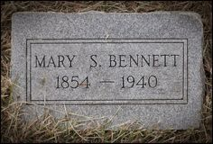 Tombstone Tuesday - Mary Ann Steele Bennett #genealogy #familyhistory