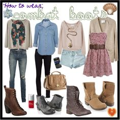 how to wear combat boots:) - Polyvore