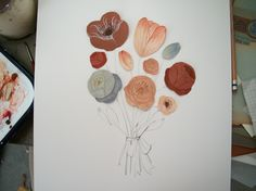 Kelsey Garrity-Riley Illustration: Martha Stewart Craft Dept - Valentine Florals.