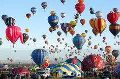 Albuquerque, New Mexico hot air balloon festival! - One of these days, I'll make it there.