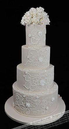 Lace wedding cake | Flickr - Photo Sharing!