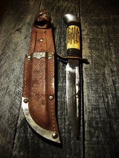 Outdoor bowie knife.