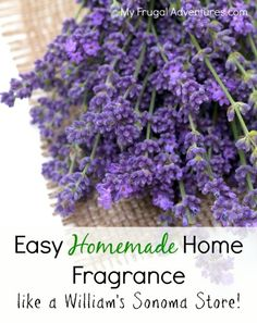 Easy Homemade home fragrance-- just like a William's Sonoma store!  Totally nontoxic and lots of ideas to use what you have on hand.