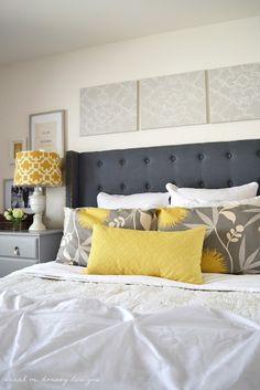 danielle oakey interiors: DIY Tufted Headboard