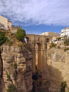 """""""Nuevo"""" Bridge, Rhonda, Malaga, Spain.  One of the most breathtaking places I have ever been!"""