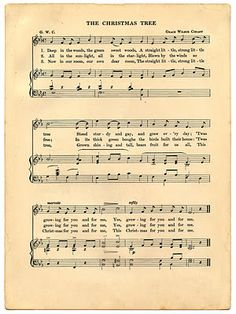 Vintage Christmas Printable - Holiday Sheet Music from The Graphics Fairy