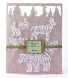 for the WHOLE FAMILY: six woodland animal ornaments from Yvonne Laube Designs $29
