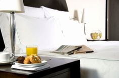 Breakfast in bed at One Aldwych Hotel, London
