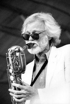 Herman Leonard     Gerry Mulligan, Newport Jazz Festival     1990