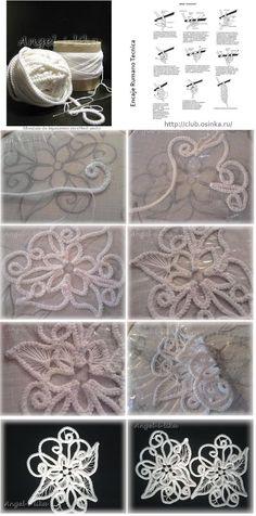 Sewing Cordoncillo Crochet  Encaje Rumano