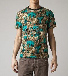 t-shirt hawaiana Anni 90