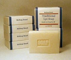 Gentle Lye Soap  Single Bar  Unscented by MoSoap on Etsy, $2.75