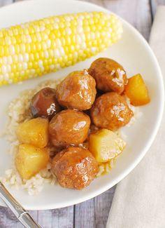 Crockpot Hawaiian Meatballs Recipe