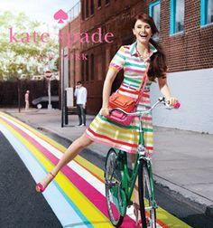 fashion, style, ad campaign, color, bicycl
