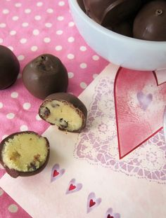 Chocolate Chip Cookie Dough Truffles.  @Tracie Carr-Ward