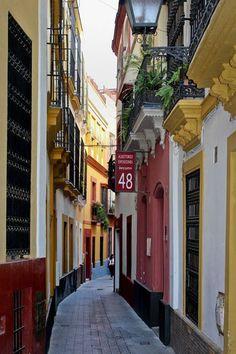 Narrow Street, Seville, Spain - photo via jean
