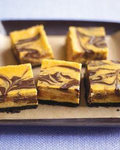 Chocolate-Pumpkin Cheesecake Bars Recipe