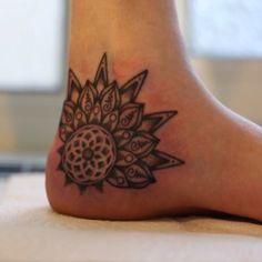 Mandala ankle tattoos